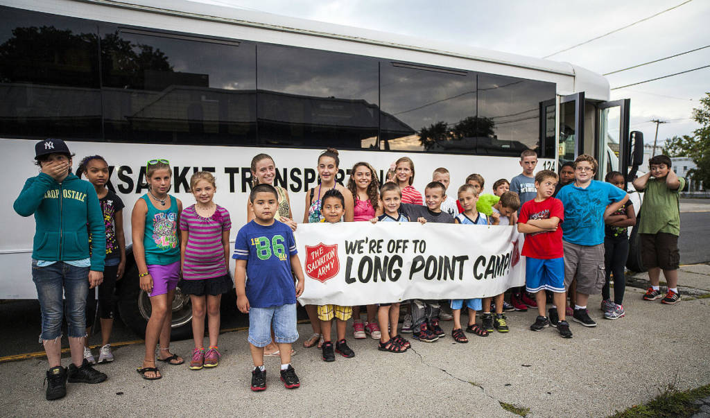 Long Point Camp Kids at the bus